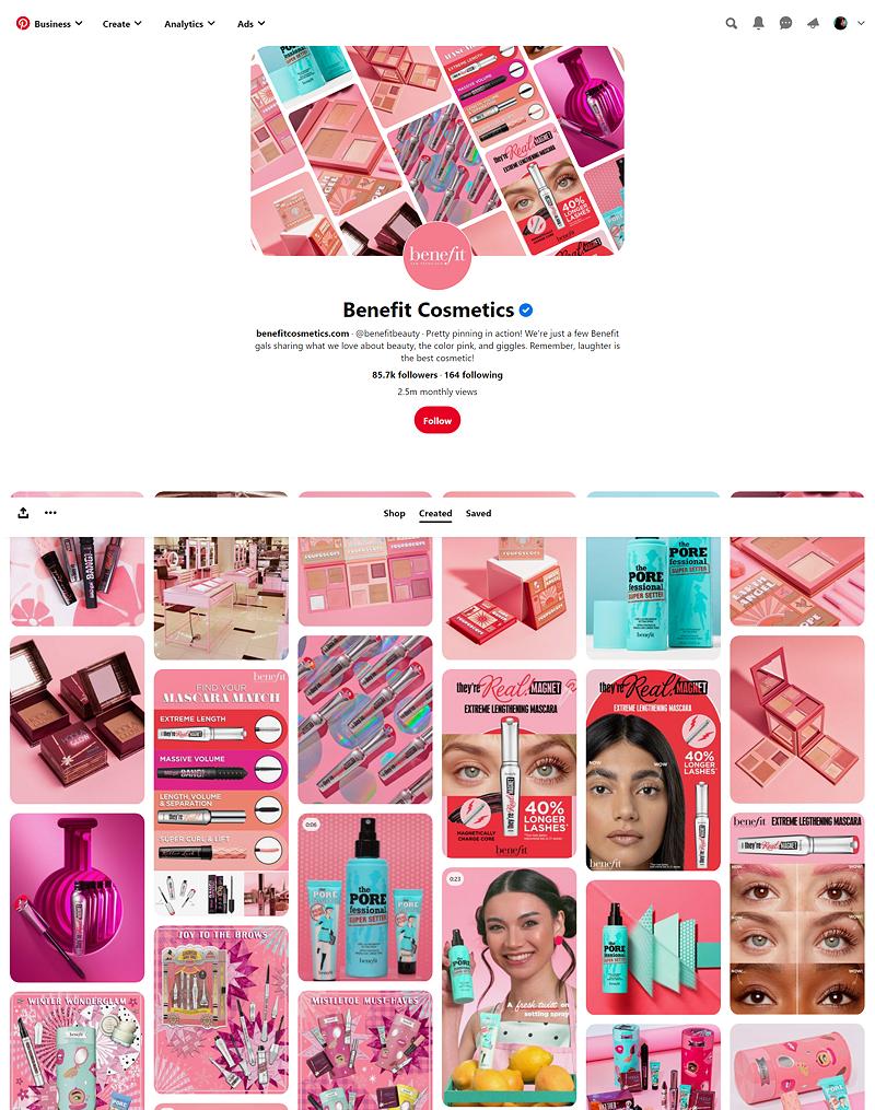 Benefit Cosmetics on Pinterest